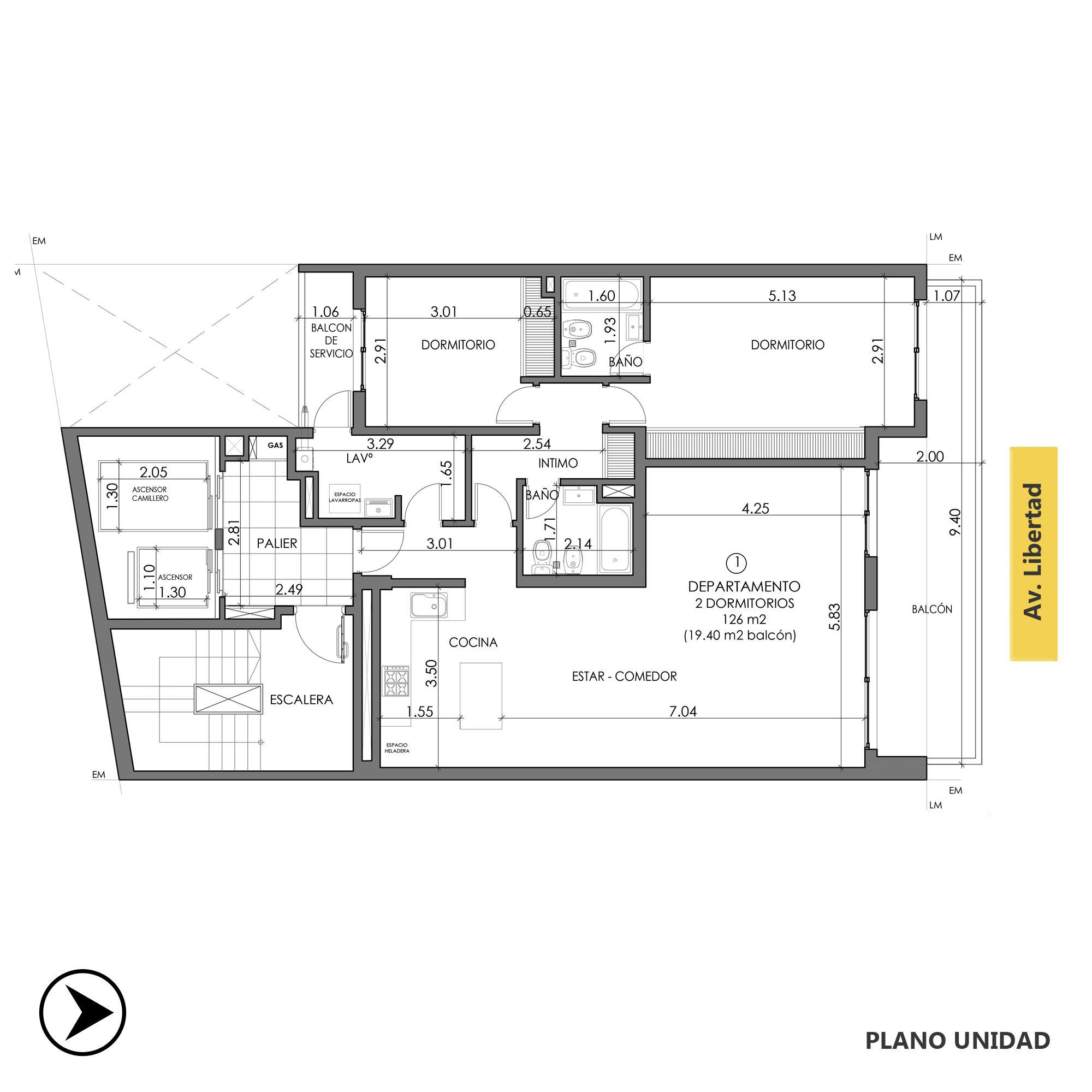 Venta departamento 2 dormitorios Rosario, Centro. Cod CBU20816 AP2039431. Crestale Propiedades