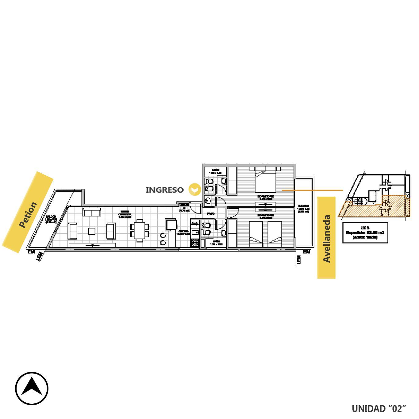 Venta departamento 2 dormitorios Rosario, Remedios De Escalada De San Martin. Cod CBU23216 AP2197327. Crestale Propiedades