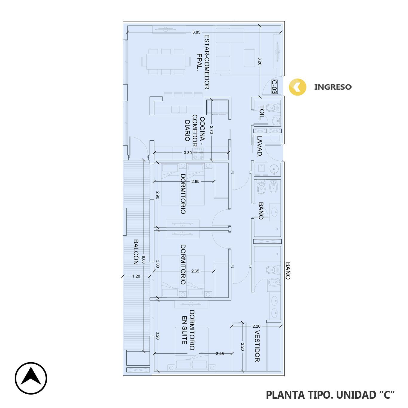 Venta departamento 3 dormitorios Rosario, Fisherton. Cod CBU23543 AP2216322. Crestale Propiedades