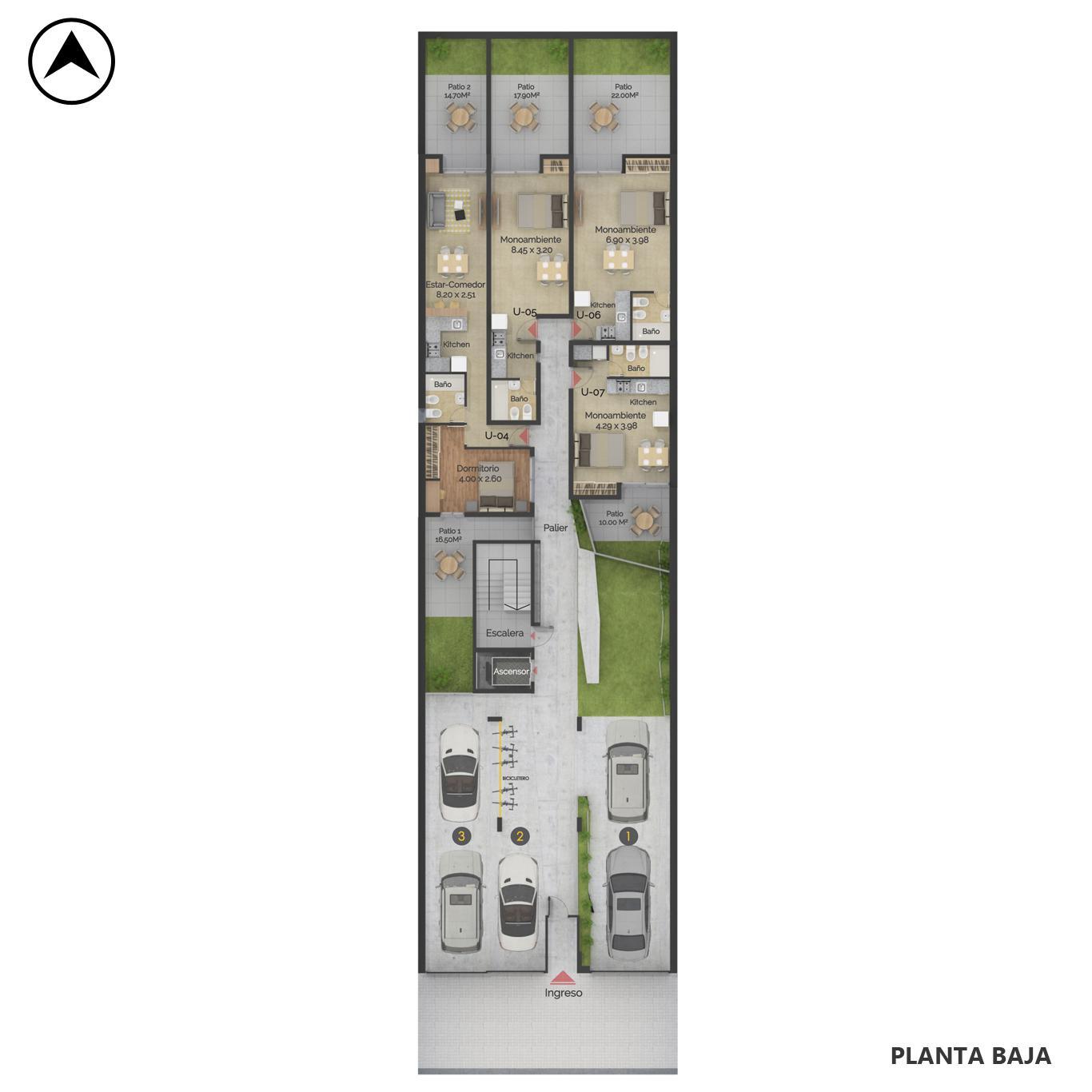 Venta departamento monoambiente Rosario, Centro Oeste. Cod CBU24040 AP2248195. Crestale Propiedades