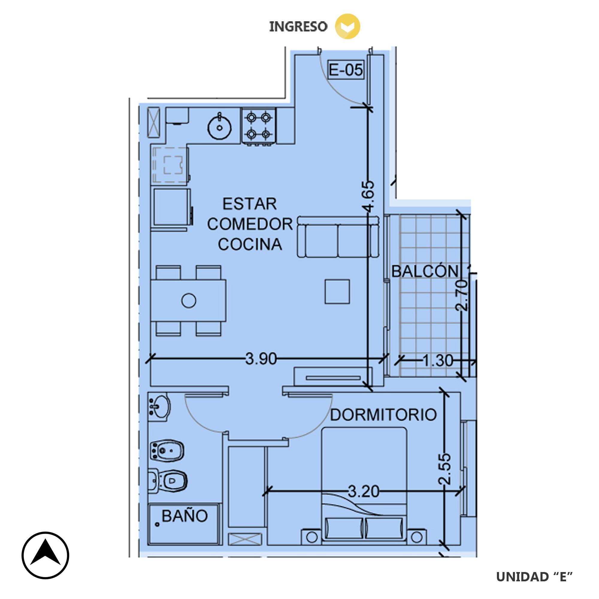 Venta departamento 1 dormitorio Rosario, Centro. Cod CBU20383 AP2004740. Crestale Propiedades