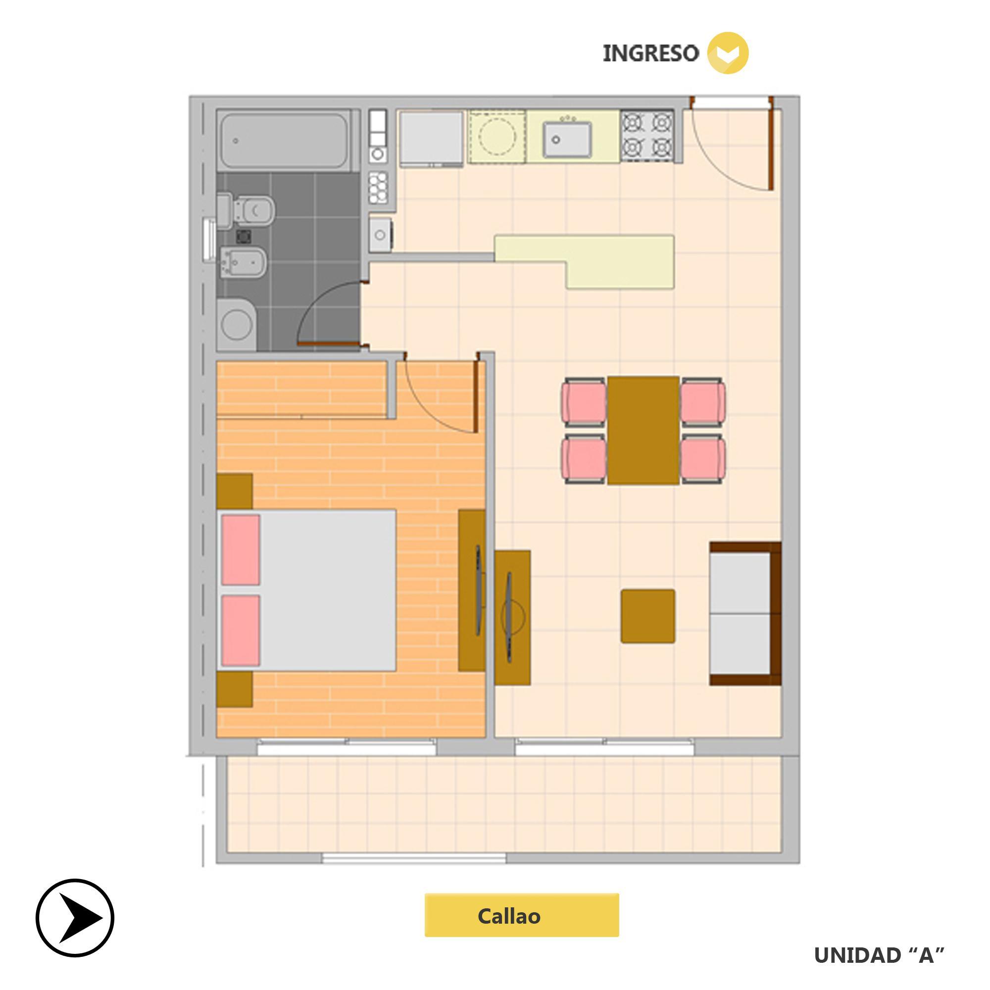 Venta departamento 1 dormitorio Rosario, Oeste. Cod CBU20801 AP2038090. Crestale Propiedades