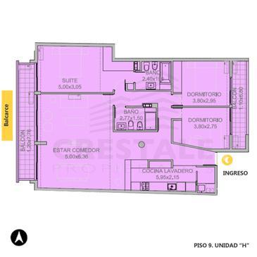 Venta departamento 3+ dormitorios Rosario, Centro. Cod 2699. Crestale Propiedades
