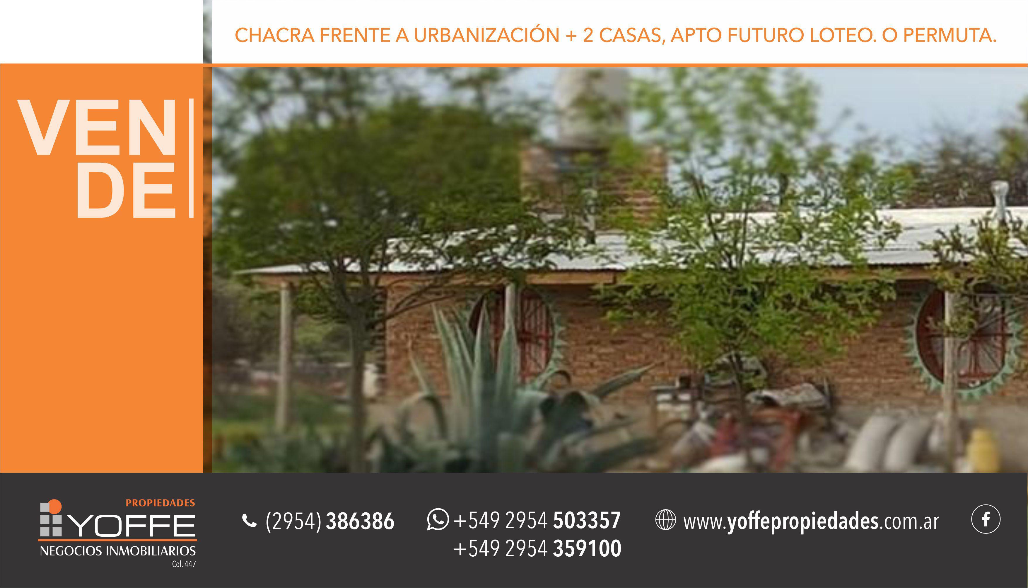 FotoTerreno en Venta    en  Inti Hué,  Santa Rosa  Zona Chacras - Cercano Inti Hué
