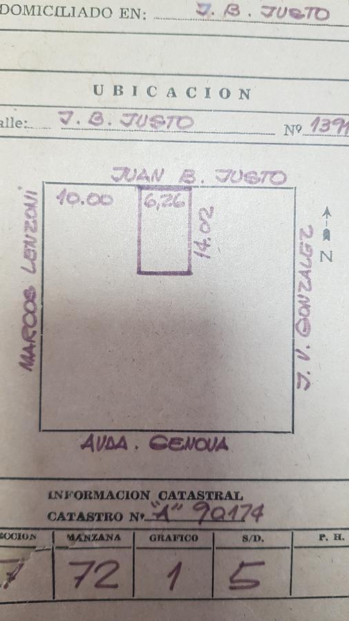 Foto Casa en Venta en  Arroyito,  Rosario  Juan B. Justo 1391