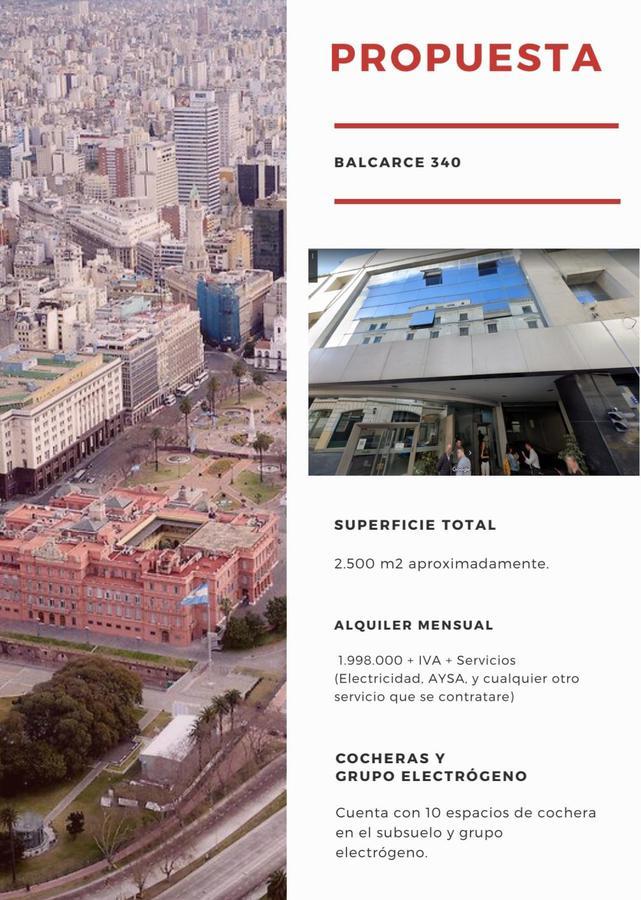 Foto Oficina en Alquiler en  Microcentro,  Centro (Capital Federal)  Balcarce 340* Oficinas Sup. Total 90 m². Precio m² U$D 3000