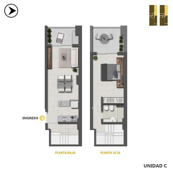 venta departamento 1 dormitorio Rosario, MITRE Y 3 DE FEBRERO. Cod CBU32094 AP3182221 Crestale Propiedades