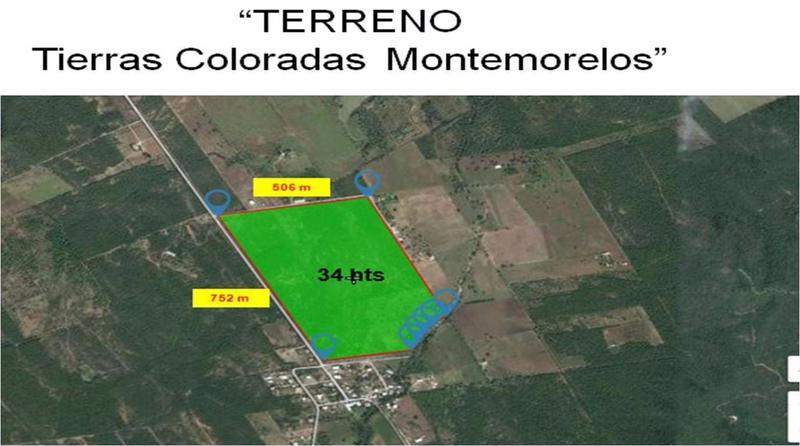 Foto Terreno en Renta en  Tierras Coloradas,  Montemorelos  TERRENO EN RENTA MONTEMORELOS 34 HECTÁREAS $ 1.00 POR M2