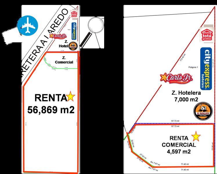 Foto Terreno en Renta en  Aeropuerto Internacional Mariano Escobedo,  Apodaca  TERRENO INDUSTRIAL EN RENTA APODACA 5.6 HECTÁREAS $ 12 PESOS POR M2