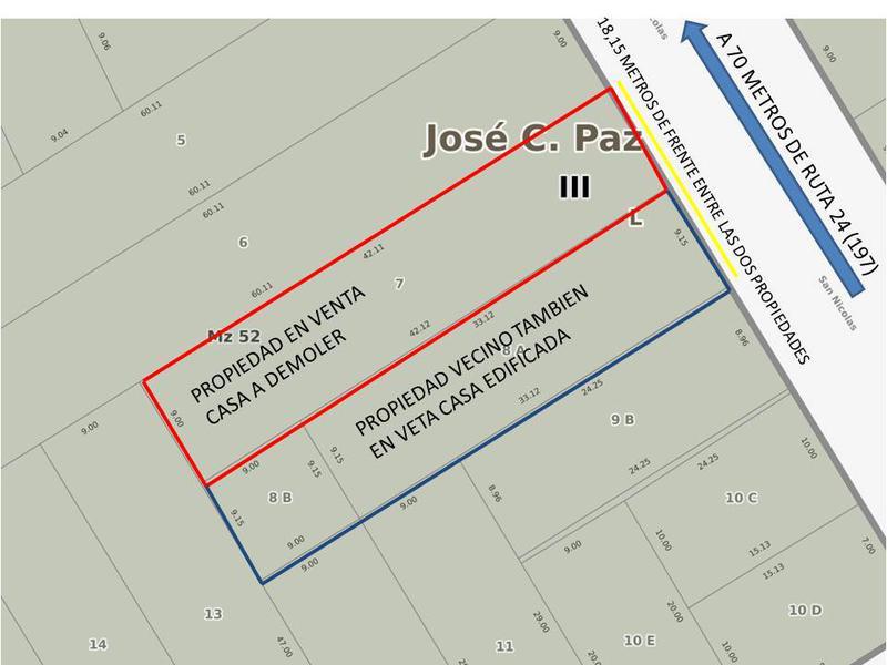 Foto Terreno en Venta en  Jose Clemente Paz,  Jose Clemente Paz  SAN NICOLAS al 5300