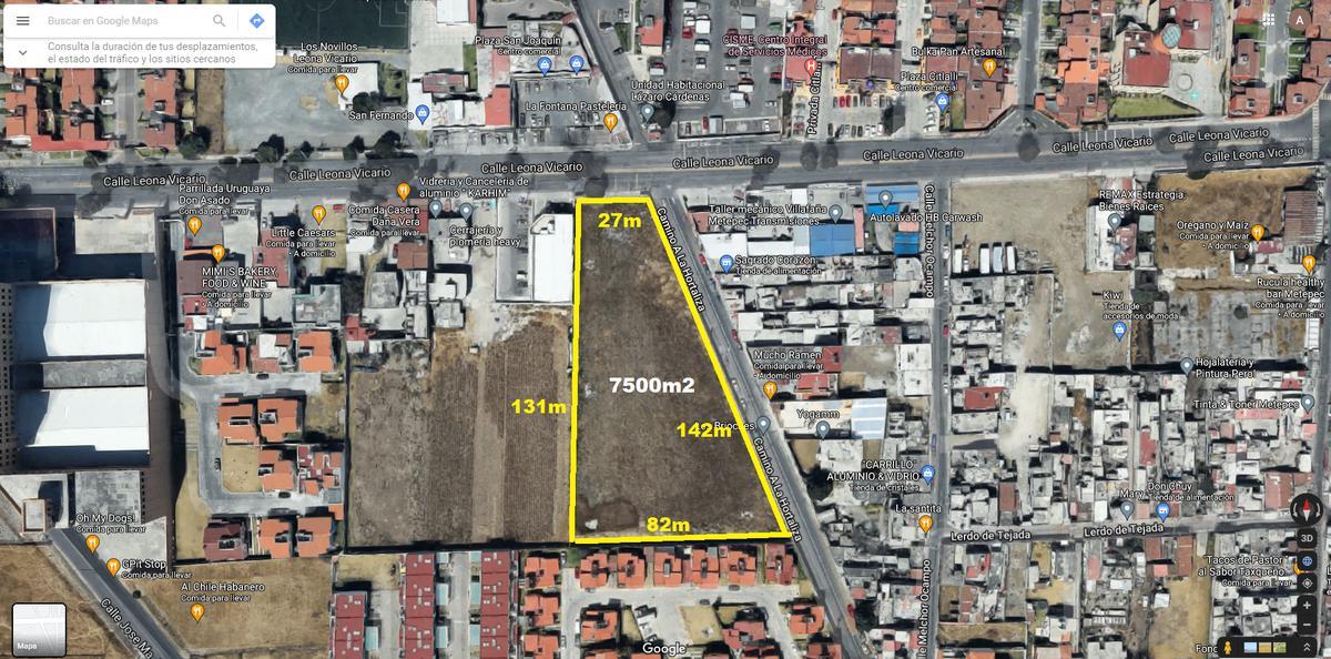 Foto Terreno en Venta en  Metepec ,  Edo. de México  Terreno comercial/residencial para desarrolladores en venta de al 7500