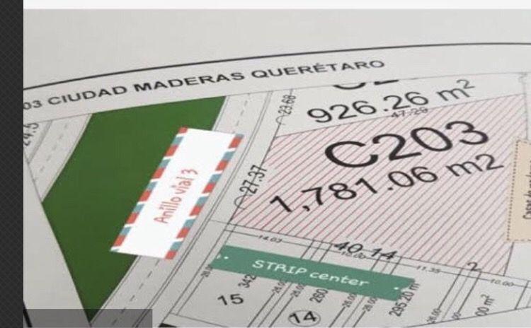 Foto Terreno en Renta en  Ciudad Maderas Residencial Querétaro,  El Marqués  VENTA/RENTA  TERRENO COMERCIAL EN CD MADERAS QRO MEX