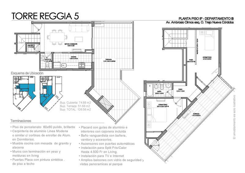 Foto Departamento en Venta en  Nueva Cordoba,  Cordoba Capital  Reggia 5| Ambrosio Olmos y Obispo Trejo- 1 Dor y 1/2