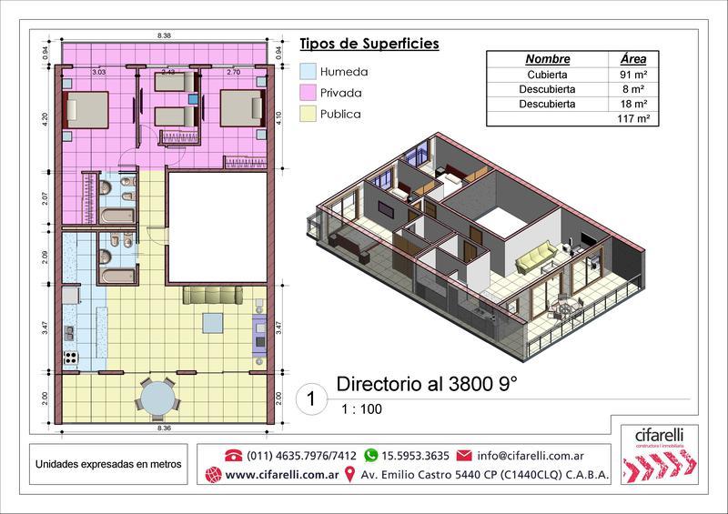 Foto Departamento en Venta en  P.Avellaneda ,  Capital Federal  Directorio al 3800 9° Piso