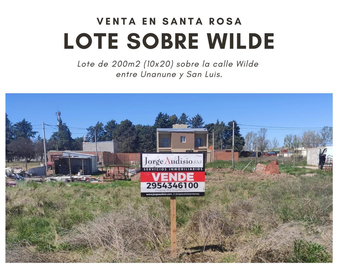 Foto Terreno en Venta en  Santa Rosa,  Capital  Wilde entre Unanue y San Luis