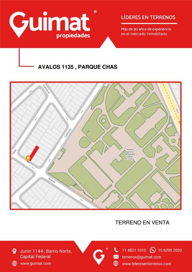 Foto Terreno en Venta en  Parque Chas ,  Capital Federal  AVALOS al 1100