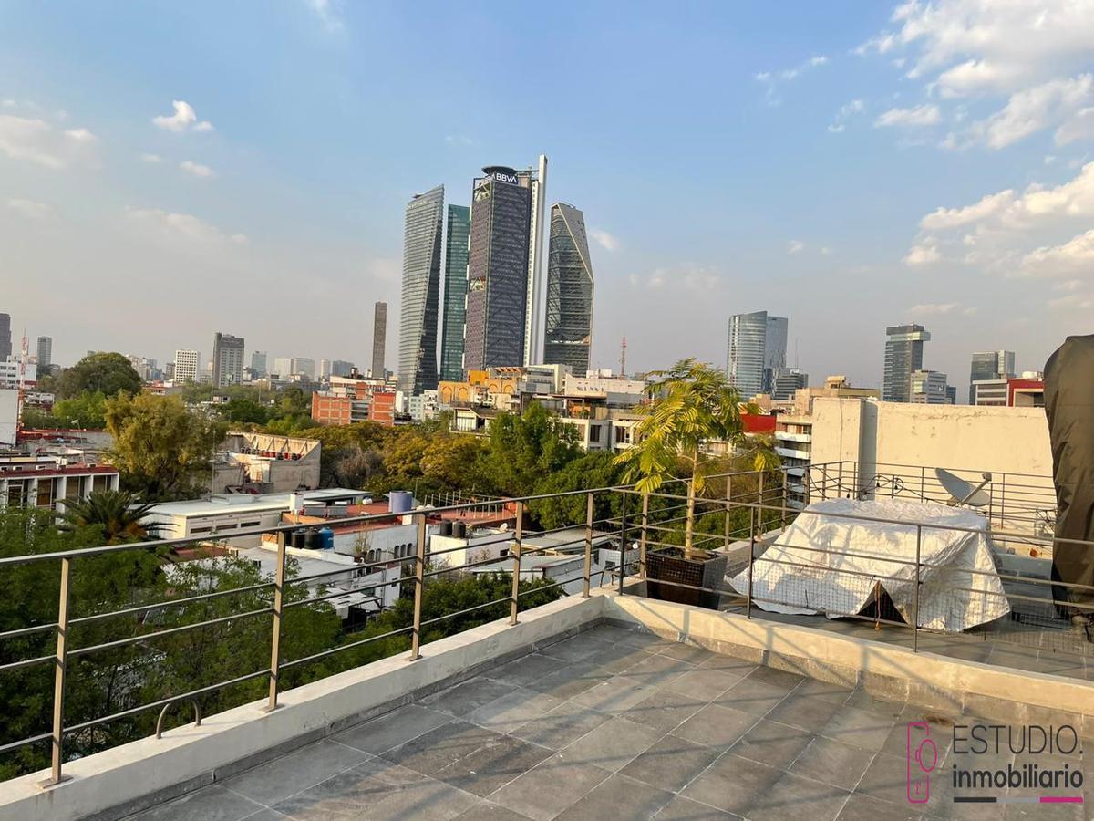 Foto Departamento en Renta en  Condesa,  Cuauhtémoc  DEPARTAMENTO EN RENTA CONDESA. roof garden privado, excelente vista.