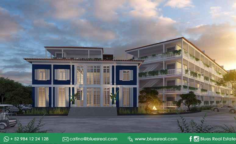 Picture Apartment in Sale in  Puerto Aventuras,  Solidaridad  FOR SALE apartment in Blue House Marina Residences in Puerto Aventuras | Blues Real | Code 385