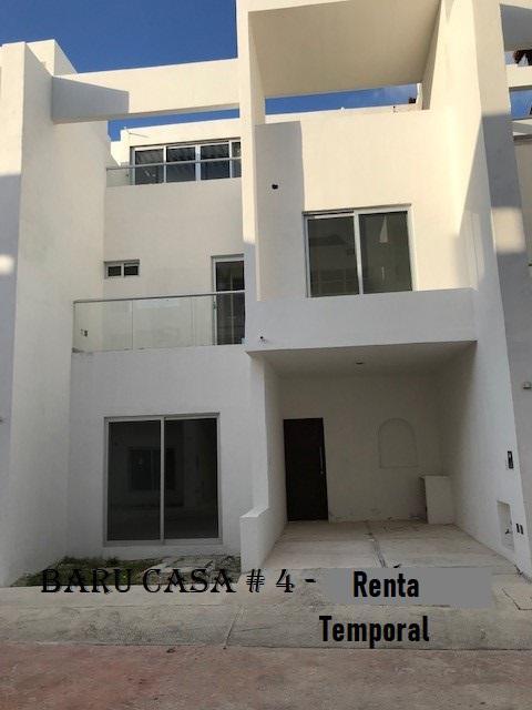 Foto Casa en condominio en Renta temporal en  Zona Hotelera Sur,  Cozumel  Baru Casa # 4- Renta Temporal Semanal