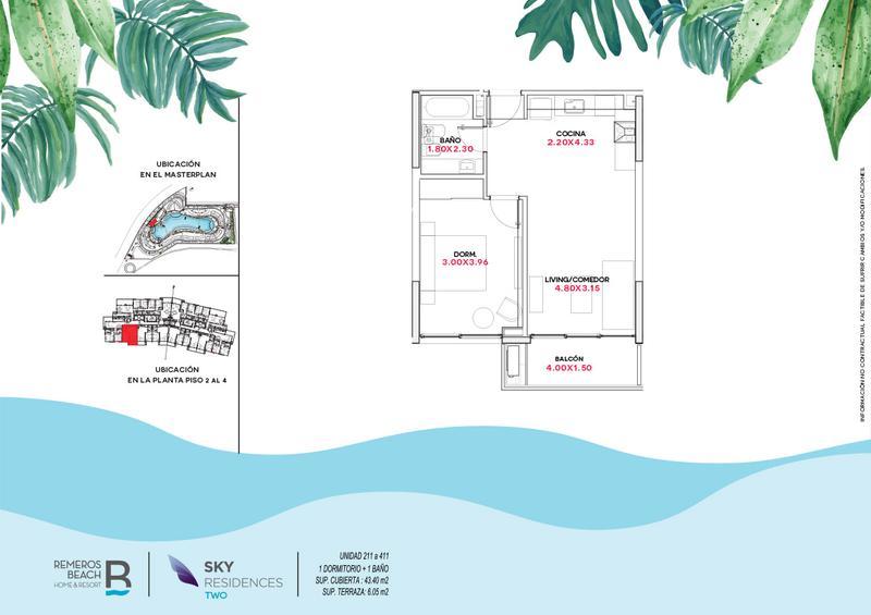 Foto Departamento en Venta en  Remeros Beach,  Countries/B.Cerrado  RB | SKY 2 - 311
