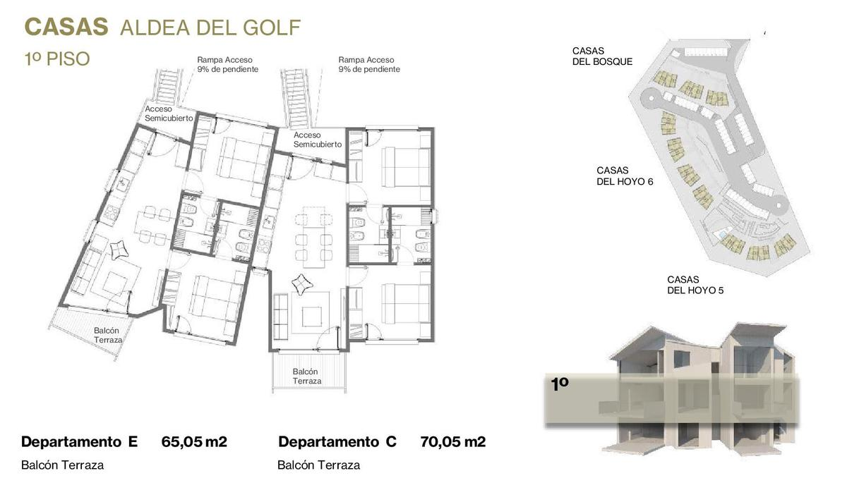 Foto Departamento en Venta en  San Martin De Los Andes,  Lacar  Aldea del Golf - Casas del Bosque primer piso 9 C - Chapelco Golf - San Martín de los Andes - Neuquén