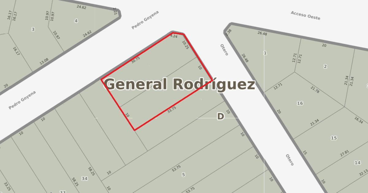 Foto Terreno en Venta en  General Rodriguez,  General Rodriguez  Parcelas en venta en Acc. Oeste - Gral. Rodríguez