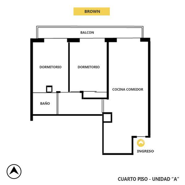 venta departamento 2 dormitorios Rosario, BROWN 1800. Cod CAP2501623 Crestale Propiedades