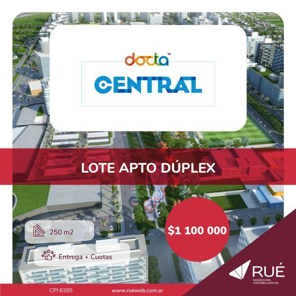 Foto Terreno en Venta en  Docta,  Cordoba Capital  Lote en venta en Docta Central. 250 m2.  Apto dúplex. Recibe vehículo.