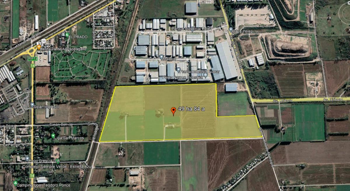 Foto Terreno en Venta en  Perez ,  Santa Fe  Lindero a parque industrial Metropolitano