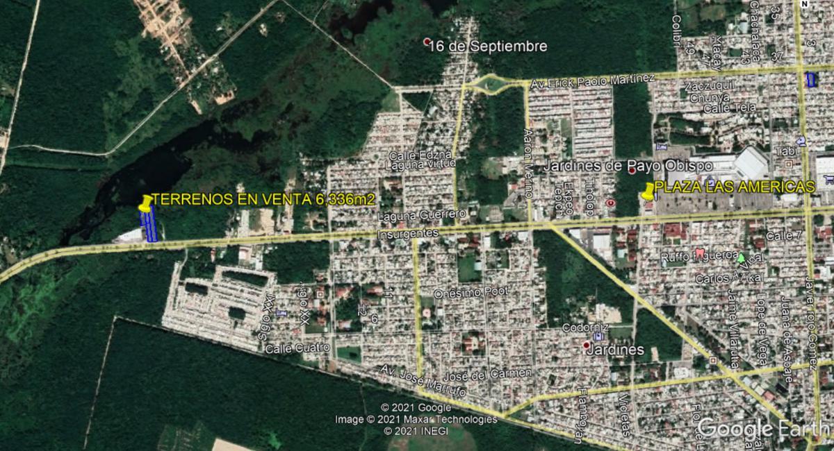 Foto Terreno en Venta en  Chetumal ,  Quintana Roo  TERRENOS EN VENTA EN AVENIDA INSURGENTES