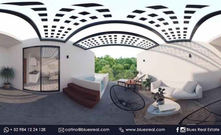 Picture Apartment in Sale in  Tulum ,  Quintana Roo  NEW Condo Central Park Lagunas at Tulum | Blues Real | Code 644