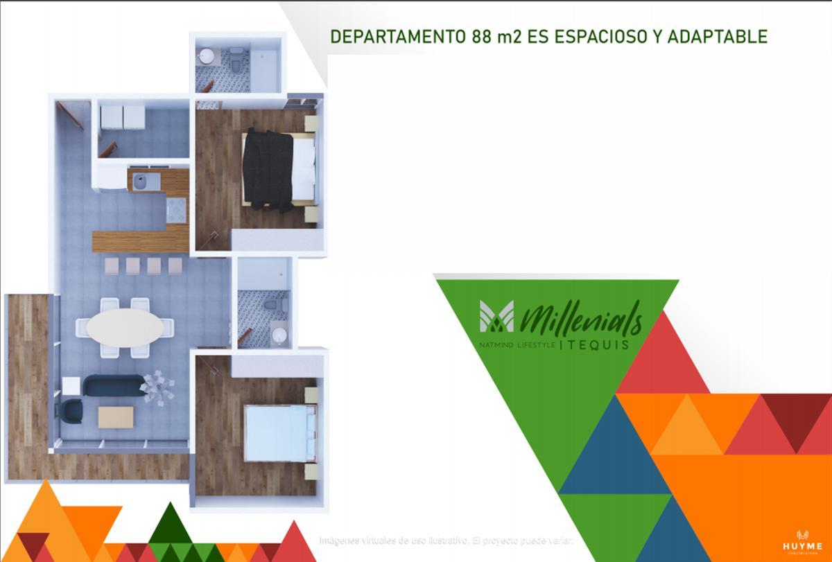 Foto Departamento en Venta en  Tequisquiapan,  San Luis Potosí  Modelo A, Piso 3- Agustín Vera 105, esq. Anáhuac, San Luis Potosí, S.L.P.