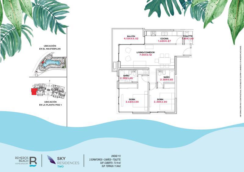 Foto Departamento en Venta en  Remeros Beach,  Countries/B.Cerrado  RB | SKY 2 - 112