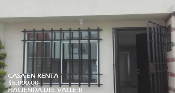 Foto Casa en condominio en Renta en  Toluca ,  Edo. de México   Casa en RENTA, Hacienda de Valle II, Hda. San Nicolás, Toluca Estado de México.