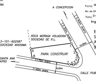 Foto Terreno en Venta en  Pozos,  Santa Ana  Alta densidad / Pozos / Plano / Exc ubicación / Esquinero