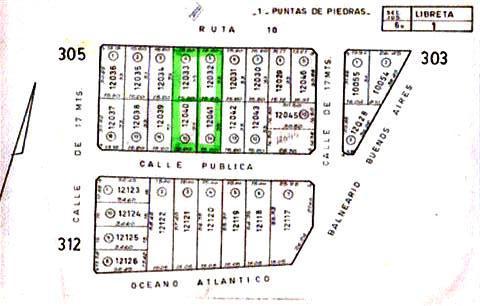 Foto Terreno en Venta en  Punta Piedras,  Manantiales  4 LOTES PUNTA PIEDRAS - 2.000 Mts2