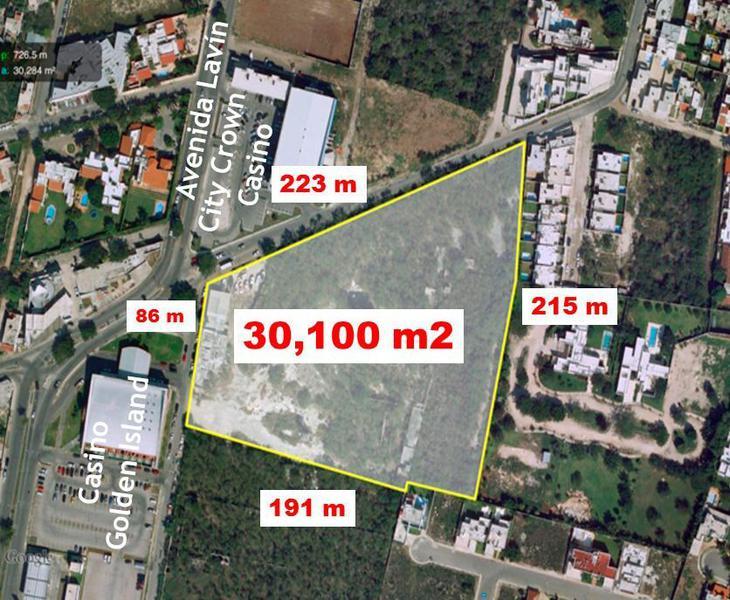 Foto Terreno en Venta en  México Norte,  Mérida  Terreno de 12,300 hasta 30,100 m2 en Colonia México Norte