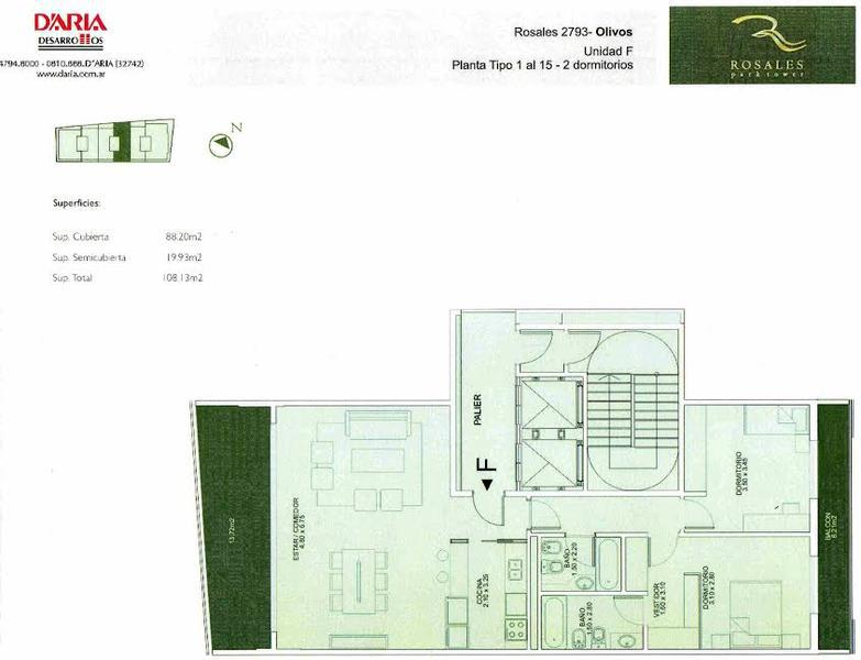 Foto Departamento en Venta en  Olivos-Vias/Maipu,  Olivos  Rosales Park Tower 3° F