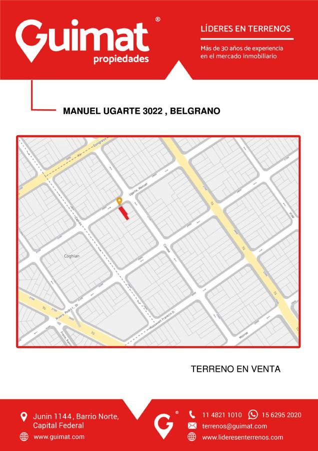 Foto Terreno en Venta en  Belgrano ,  Capital Federal  MANUEL UGARTE al 3000