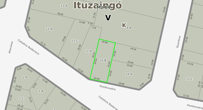 Foto Terreno en Venta en  Ituzaingó Norte,  Ituzaingó  Catalina Badaraco 200
