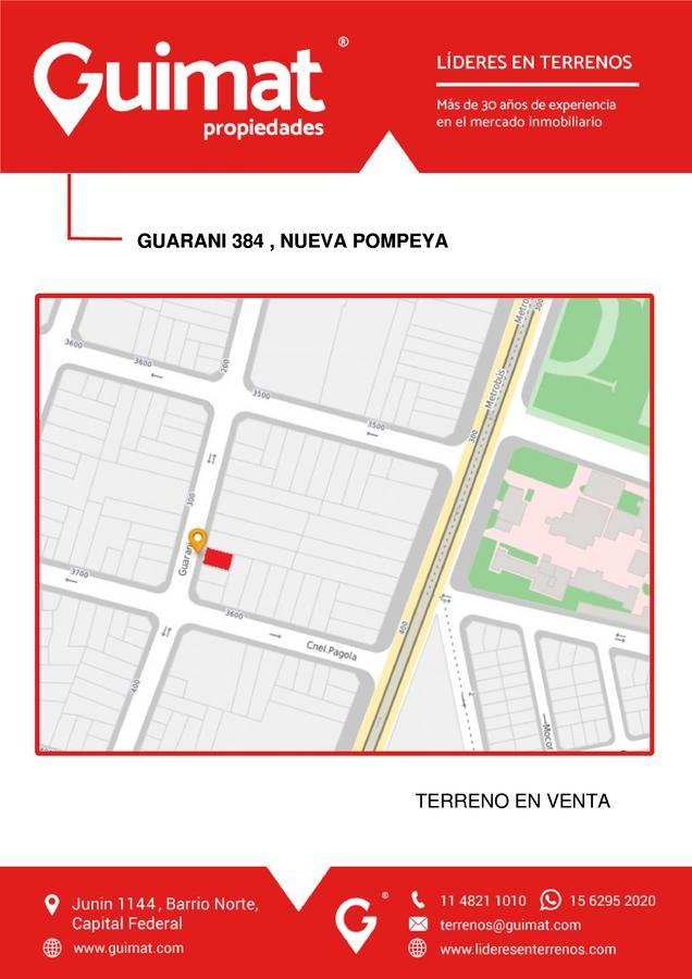Foto Terreno en Venta en  Pompeya ,  Capital Federal  GUARANÍ al 300