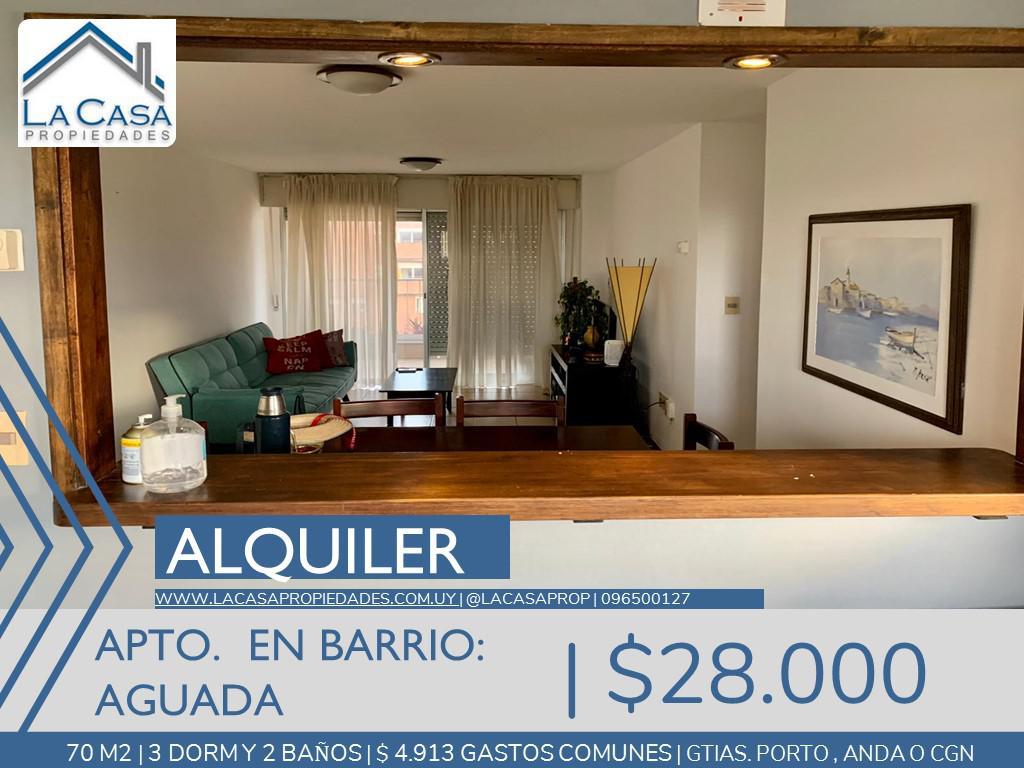 Foto Apartamento en Alquiler en  Aguada ,  Montevideo  Libertador al 1800