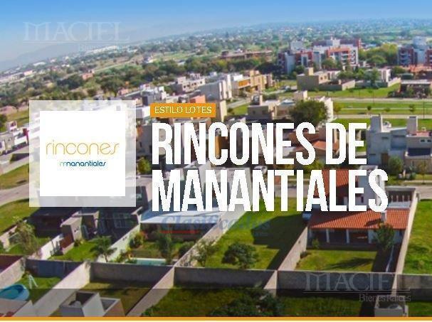 Foto Terreno en Venta en  Rincones de Manantiales,  Cordoba Capital  Rincones de Manantiales