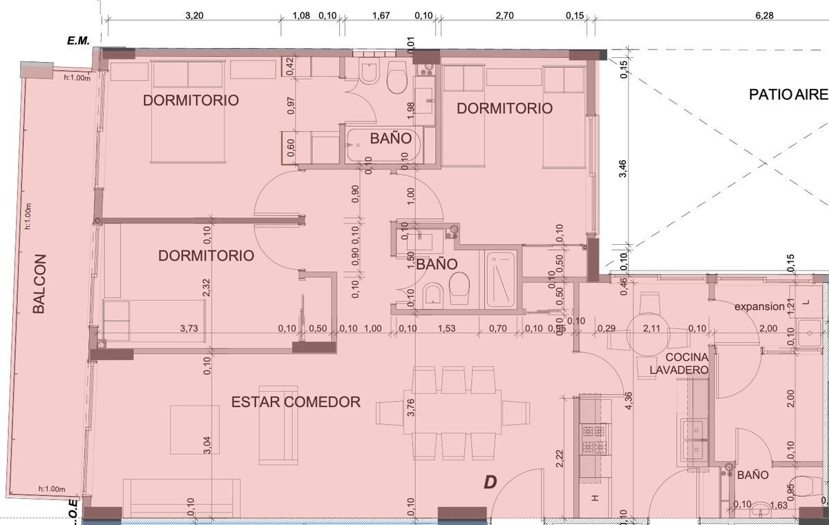 Foto Departamento en Venta en  Caballito Norte,  Caballito  Av. Gaona al 1973 - 3° D