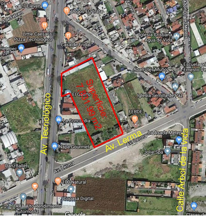 Foto Terreno en Venta en  Bellavista,  Metepec  Venta de Terreno en venta de 7800 m2 Av. Tecnologico