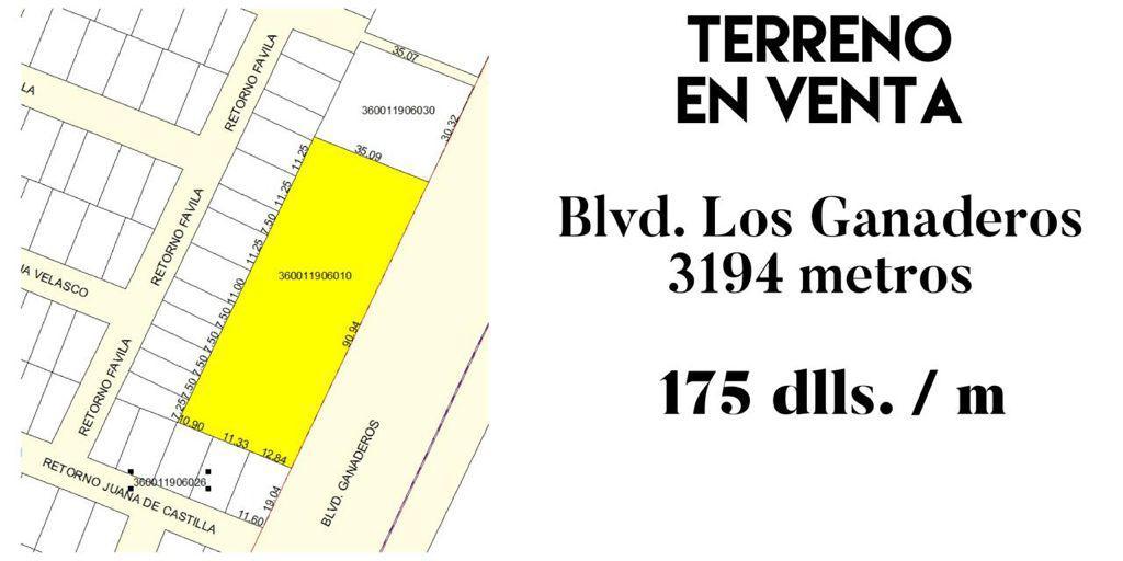 Foto Terreno en Venta en  Hermosillo ,  Sonora  TERRENO EN VENTA EN BLVD. LOS GANADEROS