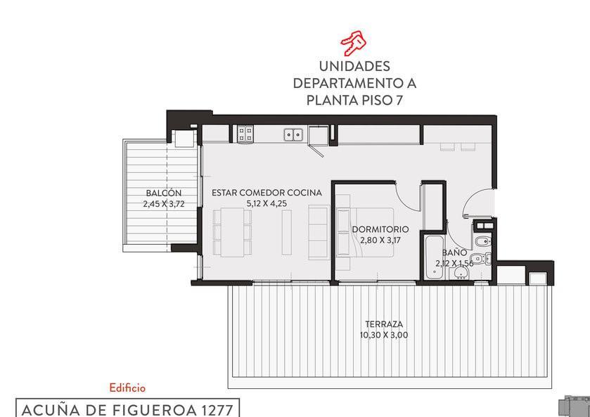 Foto Departamento en Venta en  Palermo ,  Capital Federal  Fco. Acuña de Figueroa al 1200  piso 7
