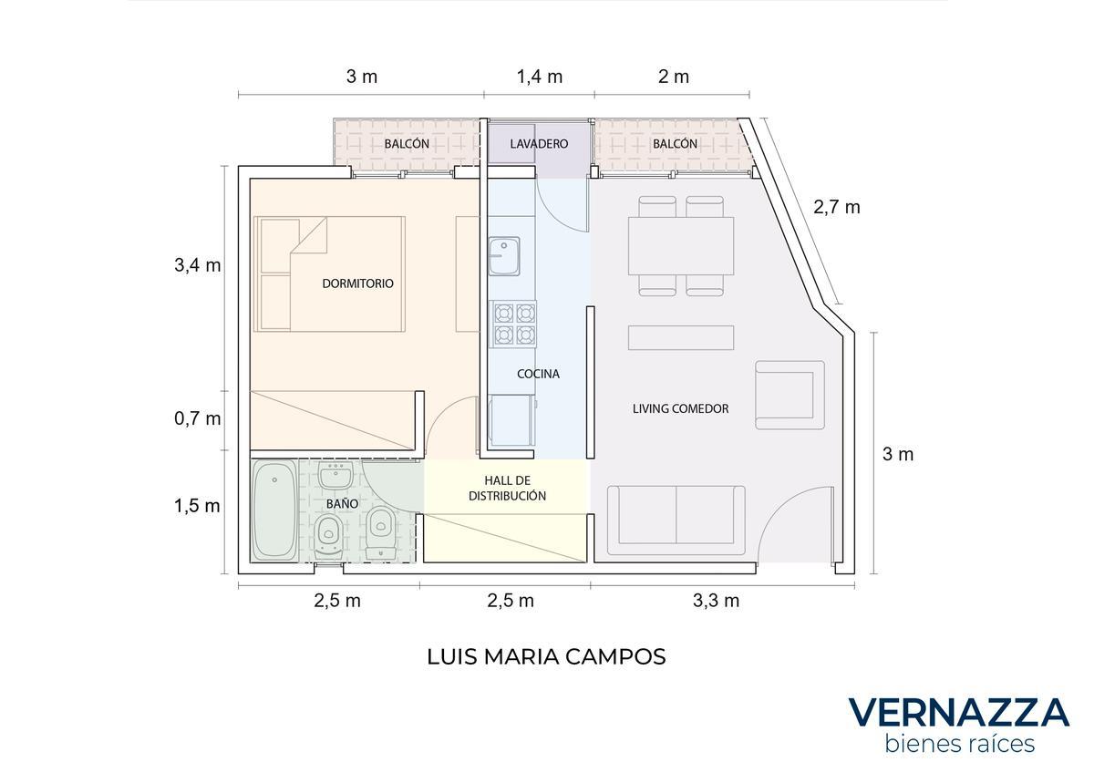 Foto Departamento en Venta en  Palermo ,  Capital Federal  RETASADO! Luis Maria Campos al 100
