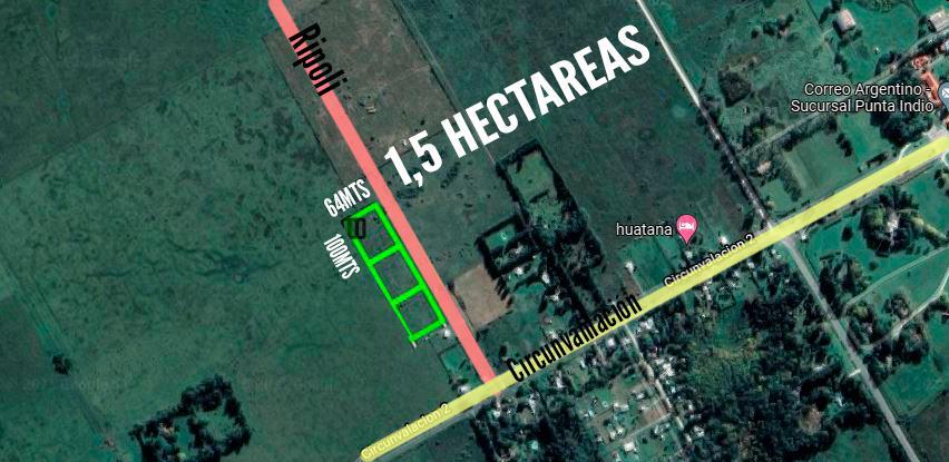 Terreno VENTA 1,5Ha - Punta Indio