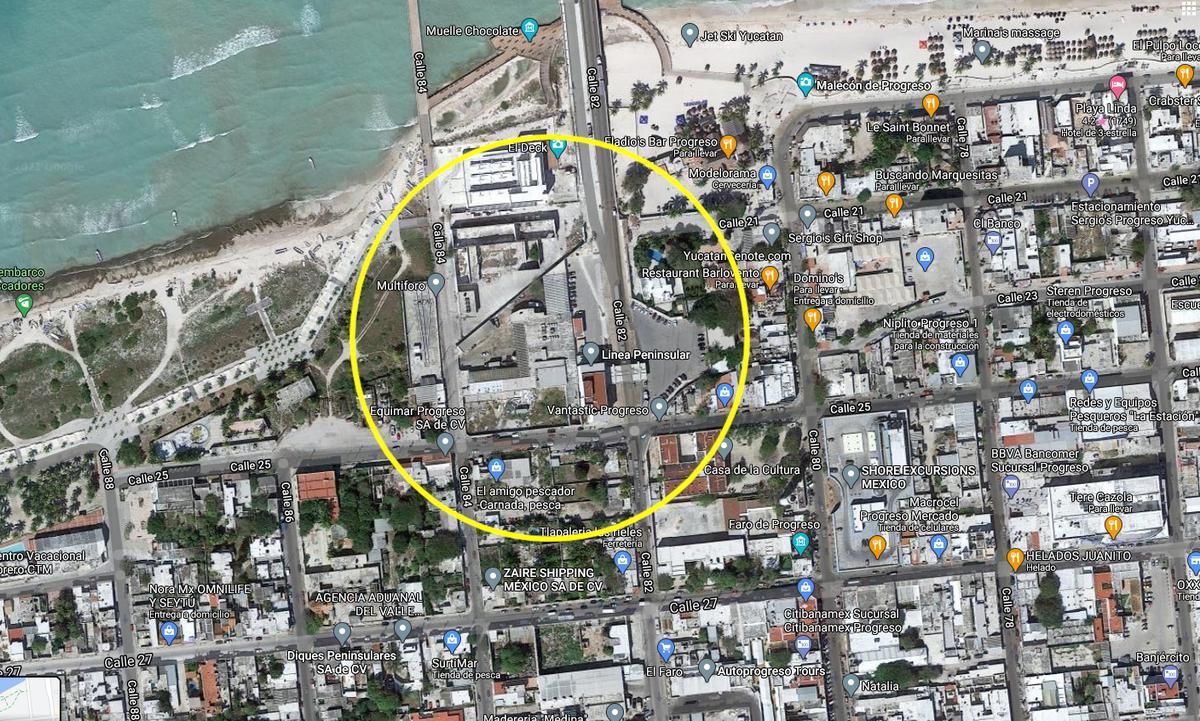Foto Terreno en Venta en  Progreso ,  Yucatán  Excelente terreno en Progreso Yuc. en frente del Muelle
